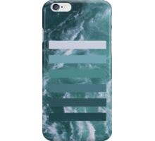 Colour layers, ocean green iPhone Case/Skin