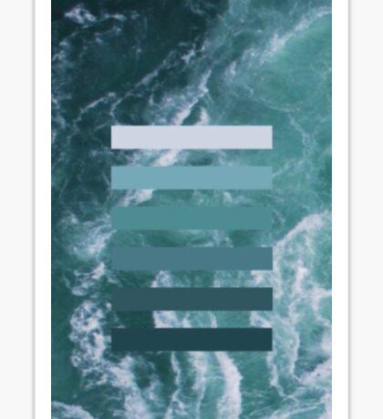 Colour layers, ocean green Sticker