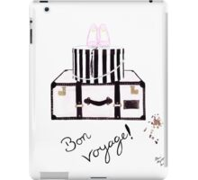 Bon Voyage Watercolour Illustration iPad Case/Skin