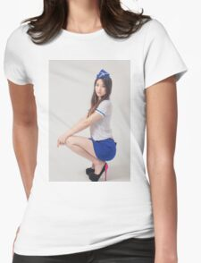 Portrait of beautiful maid Womens Fitted T-Shirt