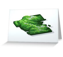 Rocky Mountain National Park (Green Contours) Greeting Card