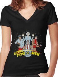 astrophysix men Women's Fitted V-Neck T-Shirt