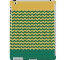 Chevron Duotone Spicy Mustard vs Lush Meadow Fall 2016 iPad Case/Skin