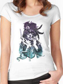 Dia de los Muertos - Night Shade Women's Fitted Scoop T-Shirt