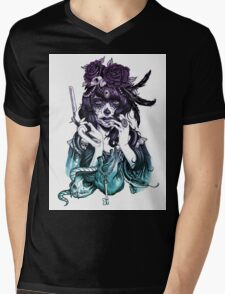 Dia de los Muertos - Night Shade Mens V-Neck T-Shirt
