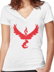 Valor Moltres Women's Fitted V-Neck T-Shirt
