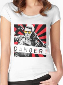 danger! Women's Fitted Scoop T-Shirt