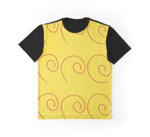 RED SPIRAL ON GOLD Graphic T-Shirt