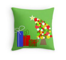 The Tipsy Tree Throw Pillow