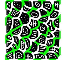Green playful pattern Photographic Print