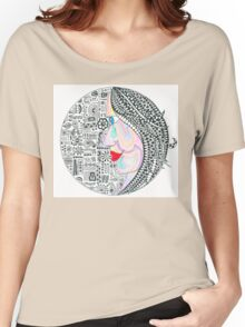 Zentangle inspired women of color Women's Relaxed Fit T-Shirt