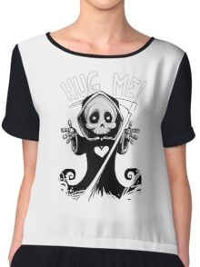Grim Hug Machine Chiffon Top