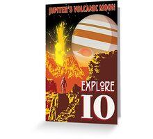 Jupiter Io Retro Space Travel Illustration Greeting Card
