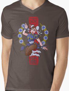 PIN UP FIGHTER Mens V-Neck T-Shirt