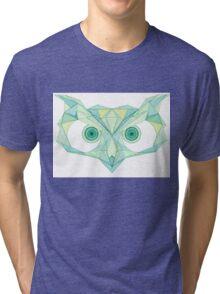 Angry owl line drawing Tri-blend T-Shirt