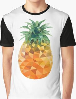 Low Poly Pineapple Graphic T-Shirt