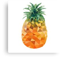 Low Poly Pineapple Canvas Print
