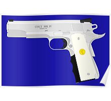 Ivory Grip Colt 1911 Stainless Poster