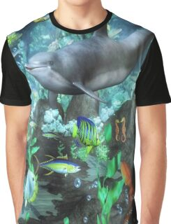 Dolphin's Under The Sea   Graphic T-Shirt