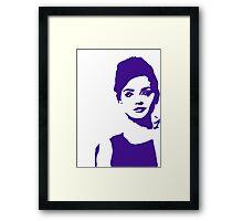 Jenna Coleman Popart Framed Print