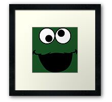 Elmo Mad Face Framed Print