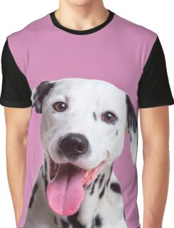 Happy, laughing Dalmatian dog Graphic T-Shirt