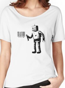 BANKSY - ROBOT BARCODE Women's Relaxed Fit T-Shirt