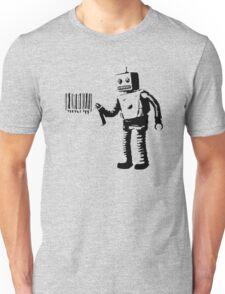 BANKSY - ROBOT BARCODE Unisex T-Shirt