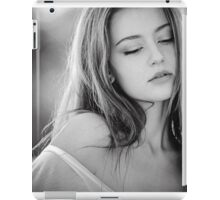 Black and White portrait of a model iPad Case/Skin
