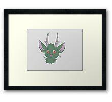 Green Deer Framed Print