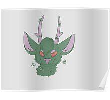 Green Deer Poster