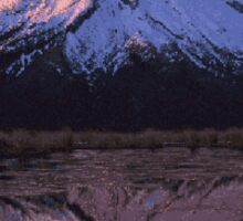Pixel Mountain Sticker