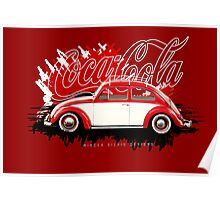 VW Beetle-Coca Cola-Painting Poster
