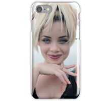 smiling young beautiful blond woman, iPhone Case/Skin