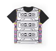 Pixel VCR Tape Art Graphic T-Shirt