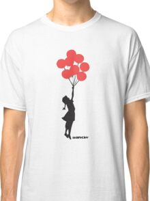 BANKSY - RED BALLOONS Classic T-Shirt