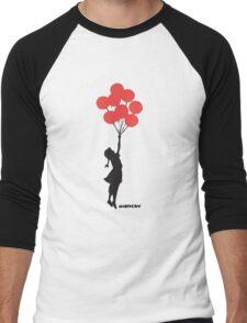 BANKSY - RED BALLOONS Men's Baseball ¾ T-Shirt
