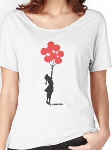 BANKSY - RED BALLOONS Women's Relaxed Fit T-Shirt