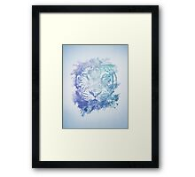 Abstract Watercolor Tiger Portrait / Face Framed Print