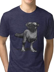 Pugusaurus Rex. Tri-blend T-Shirt