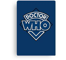 Doctor Who Diamond Logo Blue White Lines. Canvas Print