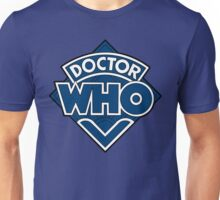 Doctor Who Diamond Logo Blue White Lines. Unisex T-Shirt