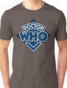 Doctor Who Diamond Logo Blue White Lines. Unisex T-Shirt