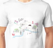 London Guide Watercolour Illustration Unisex T-Shirt