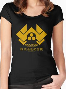 Nakatomi Corporation Hard Women's Fitted Scoop T-Shirt
