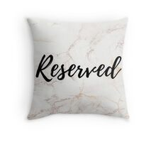 Pink Marble Effect Reserved Cushion Throw Pillow