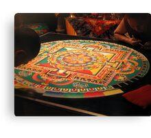 Tibetan Buddhist Sand Mandala Canvas Print