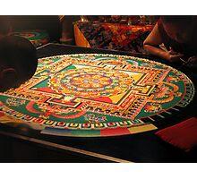 Tibetan Buddhist Sand Mandala Photographic Print