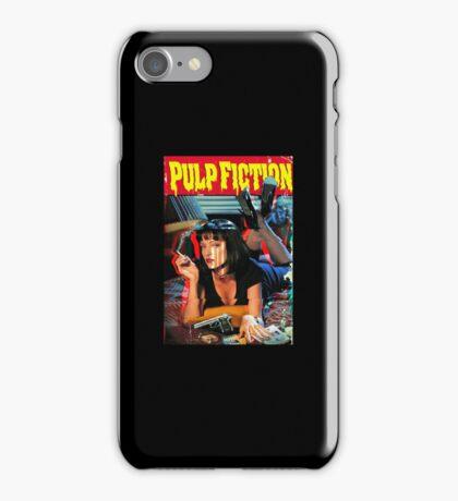 Pulp Fiction Glitch Poster iPhone Case/Skin