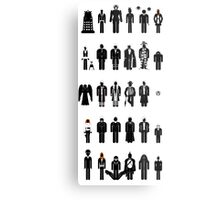 Dr Who recognition guide Metal Print